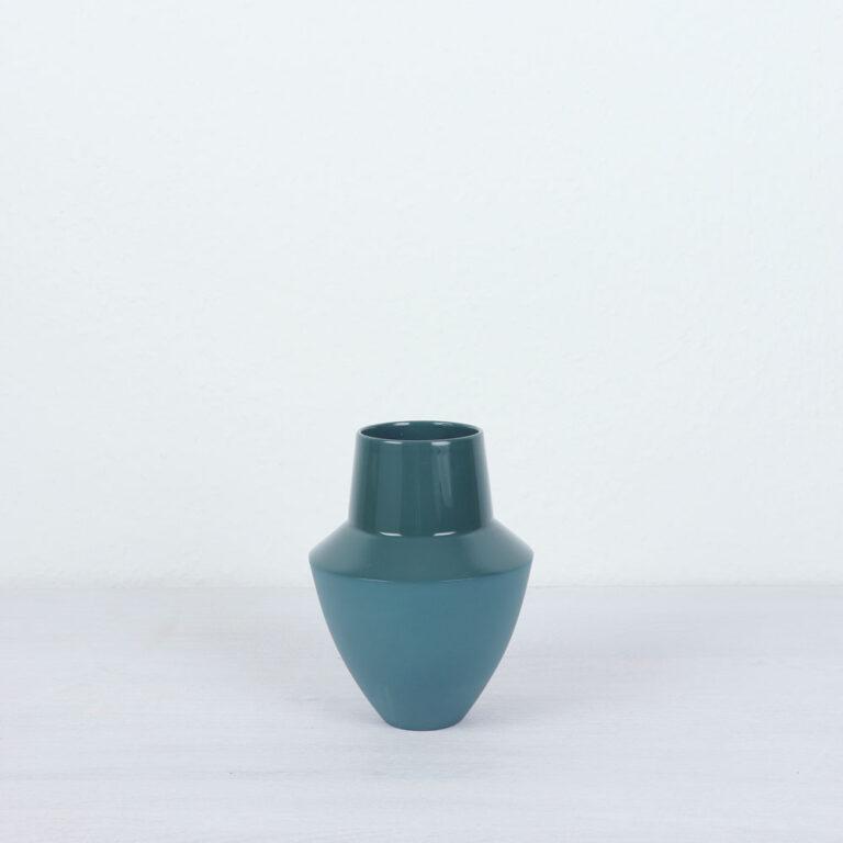 bauchige Vase blaugrau